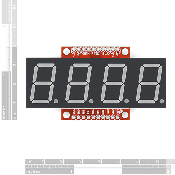 SparkFun OpenSegment Serial Display - 20mm (Yellow)