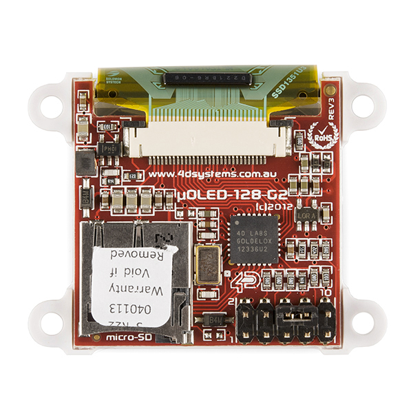 "Serial Miniature OLED Module - 1.5"" (μOLED-128-G2-GFX)"