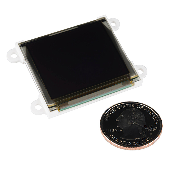 "Serial Miniature OLED Module - 1.7"" (uOLED-160-G2)"