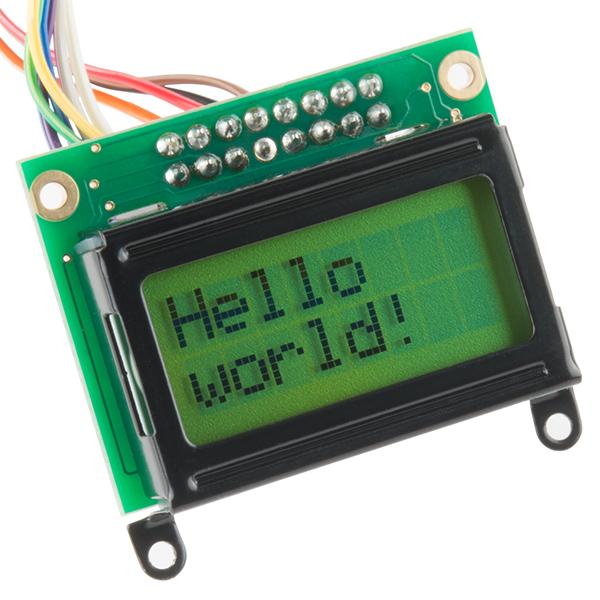 Basic 8x2 Character LCD - Black on Green 3 3V