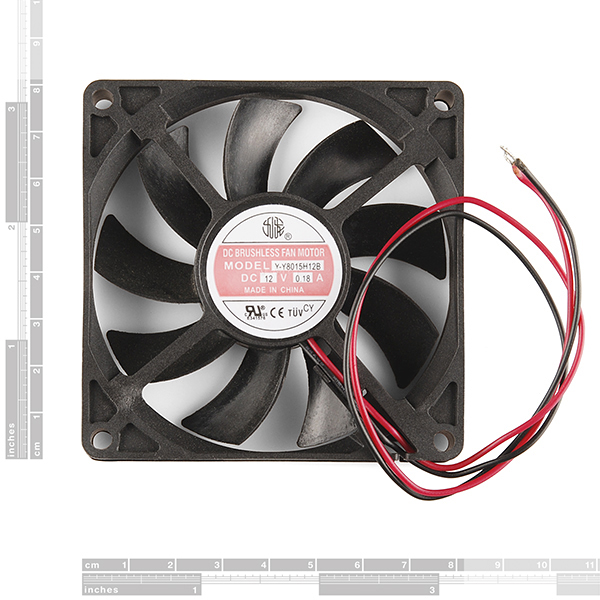 DC Brushless Fan - 80x80x15mm (12V)