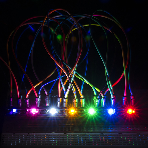 LilyPad Rainbow LED (strip of 7 colors)