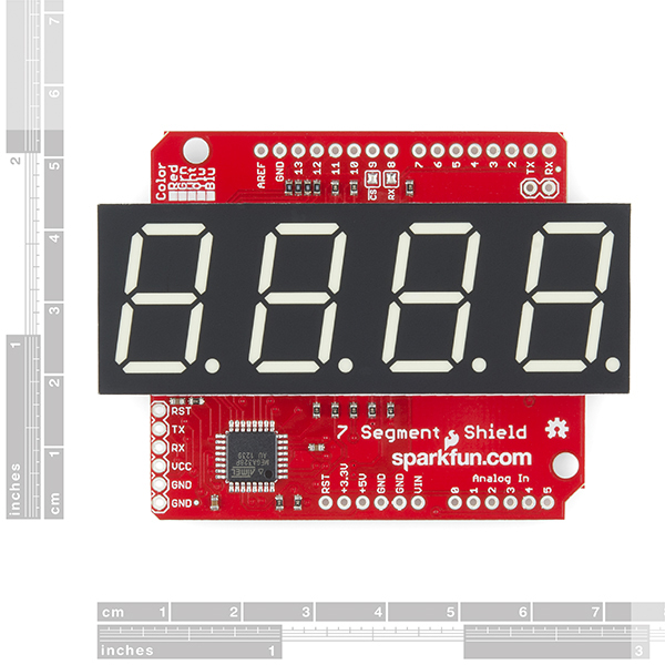 SparkFun OpenSegment Shield - Red (20mm)