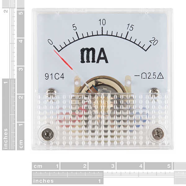 Analog Panel Meter - 0 to 20mA (Ding and Dent)