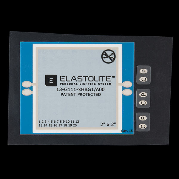 ELastoLite Panel - 2x2 inches - Blue