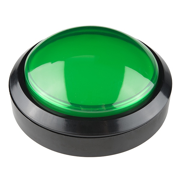 Big Dome Pushbutton - Green (Economy)