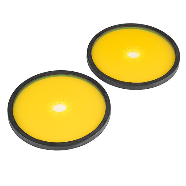 "Precision Disc Wheel - 4"" (Clear Yellow)"