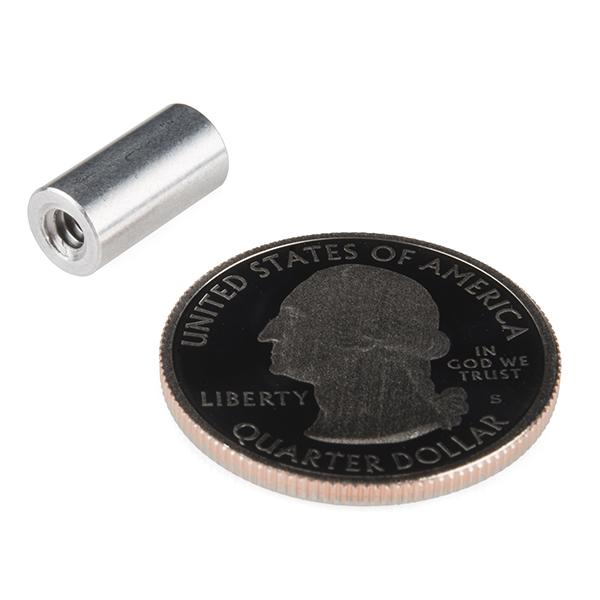 """Standoff - Aluminum Threaded (6-32; 1/2"""")"""