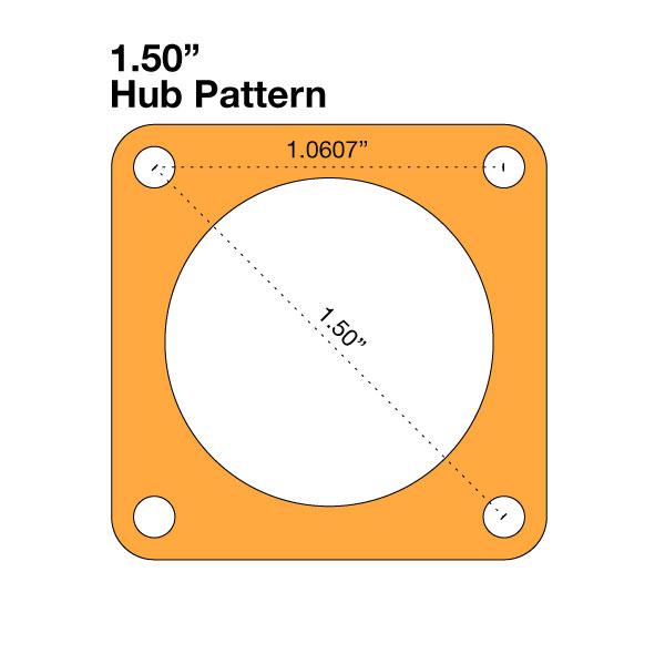 "Hub Adapter - 1.50"" to 1.50"""