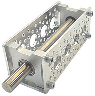 "Bearing Mount - Quad Block (3/8"" Bore)"