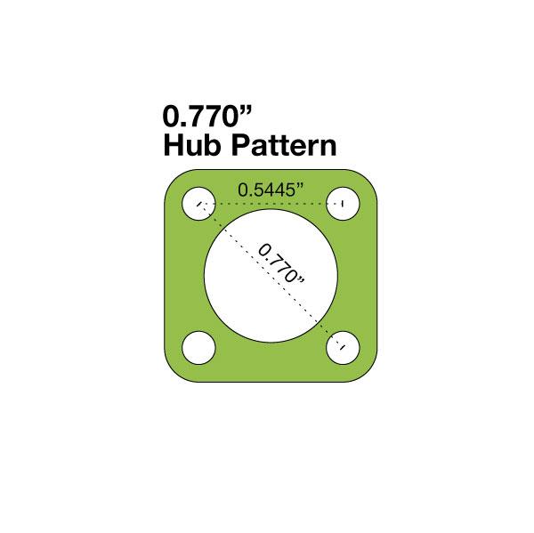 "Hub Adapter - 0.625"" to 0.77"""