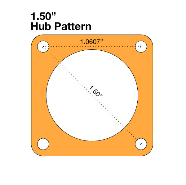 "Hub Adapter - 1.50"" to 0.77"""