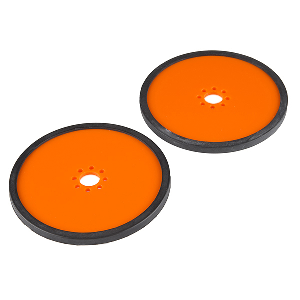 "Precision Disc Wheel - 4"" (Orange, 2 Pack)"