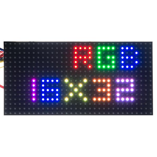 Rgb Led Panel 16x32 Com 12583 Sparkfun Electronics