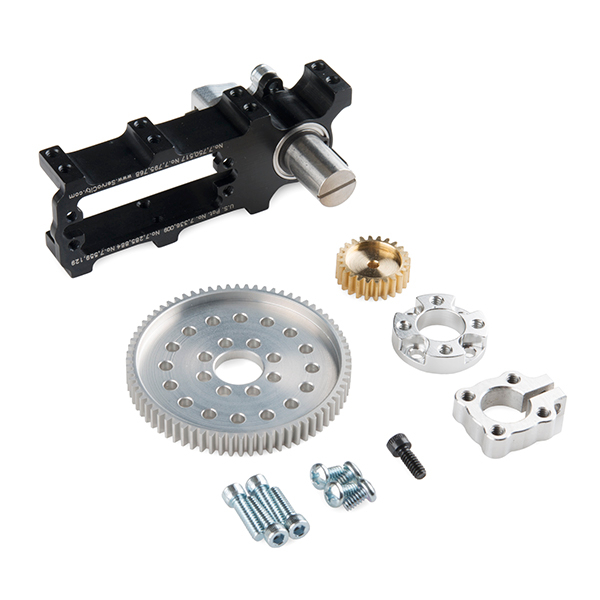 Channel Mount Gearbox Kit - 360° Rotation (3.8:1 Ratio)