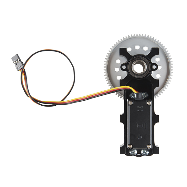 Channel Mount Gearbox Kit - Continuous Rotation (3:1 Ratio)