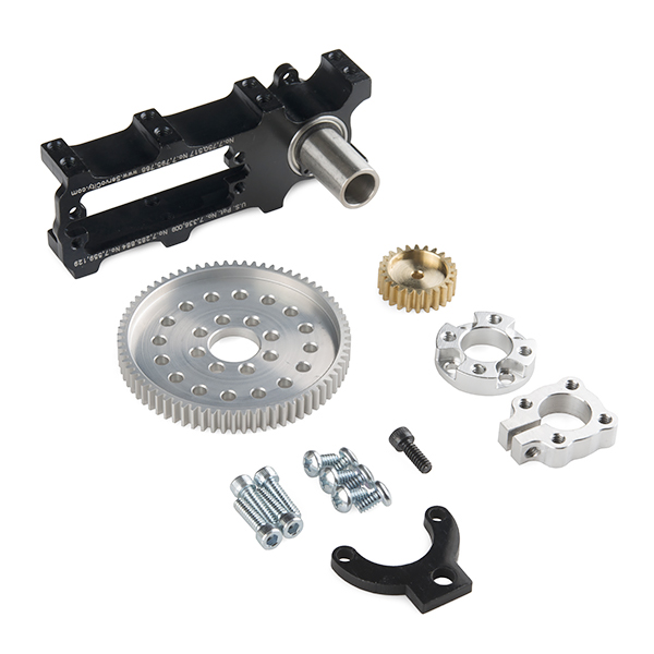 Channel Mount Gearbox Kit - Continuous Rotation (7:1 Ratio)