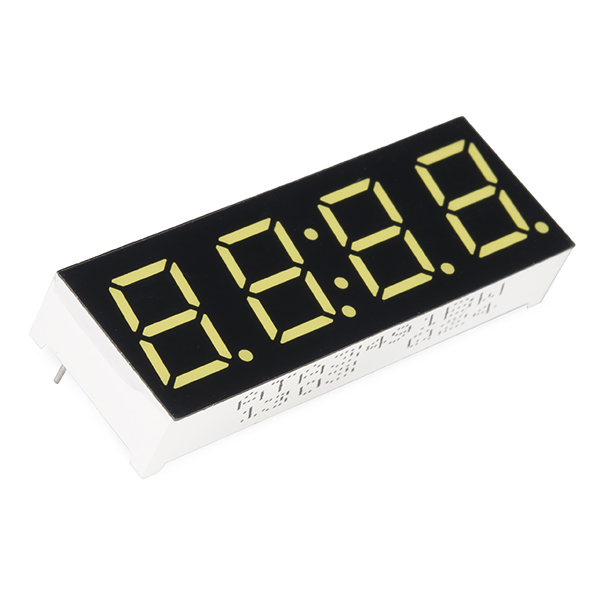 7-Segment Display - 4-Digit (White) (single header)
