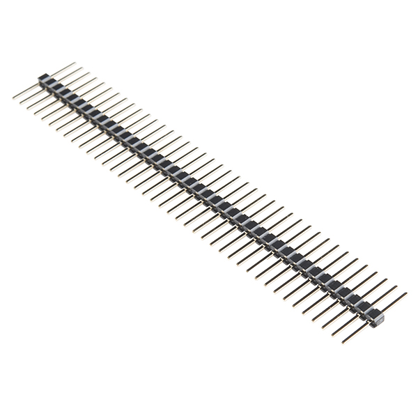 "Break Away Headers - 40-pin Male (Long Centered, PTH, 0.1"")"
