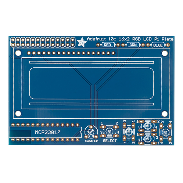 LCD Keypad Kit for Raspberry Pi - 16x2 (Blue and White)