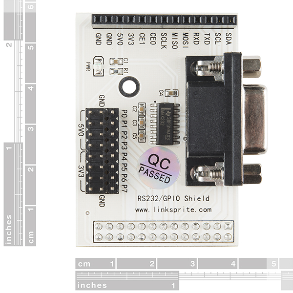 RS232 Shield - Raspberry Pi - DEV-12827 - SparkFun Electronics