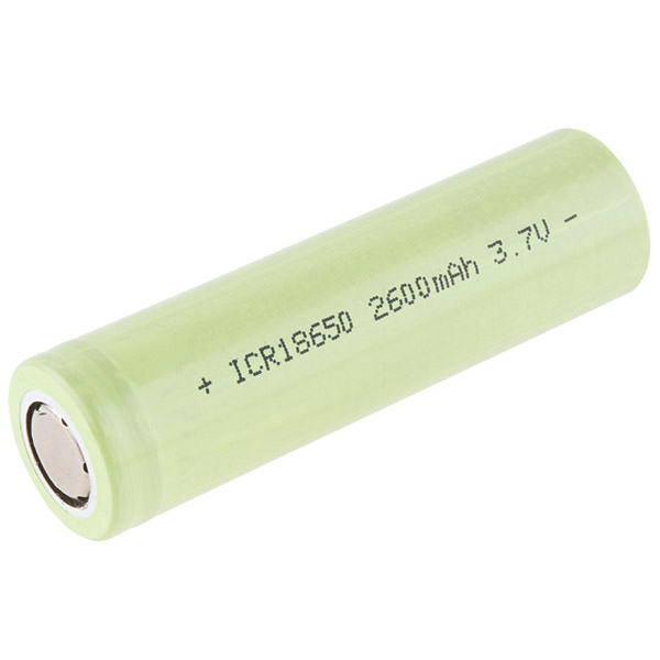 Lithium Ion Battery - 18650 Cell (2600mAh)