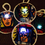 DIY Glowing Holiday Ornaments