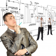 Engineering as depicted in stock photos