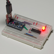 T³: Programming an ATtiny84A from Arduino