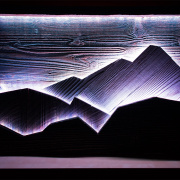Backlit LED Mountain Scene