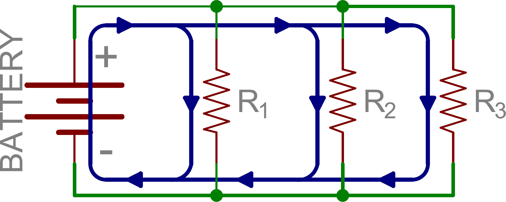 Series And Parallel Circuits Wiring Resistors Schematic Three In