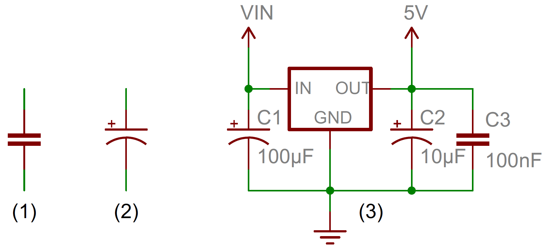 Capacitors Rectifier Regulator Schematic Capacitor Circuit Symbols