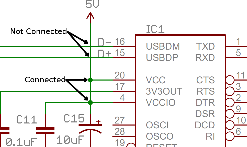 how to a schematic learn sparkfun com example of connected an disconnected nodes