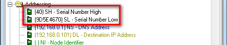 XBee MAC address