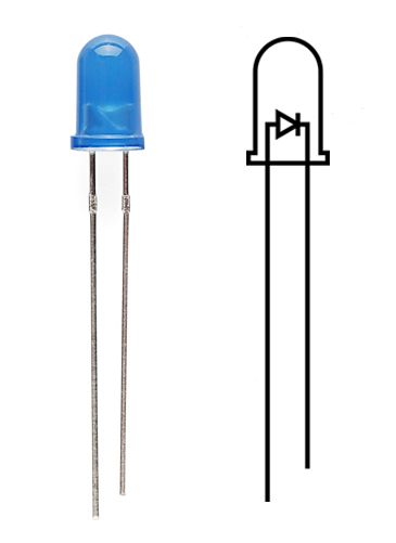 Image showing the two legs of an LED