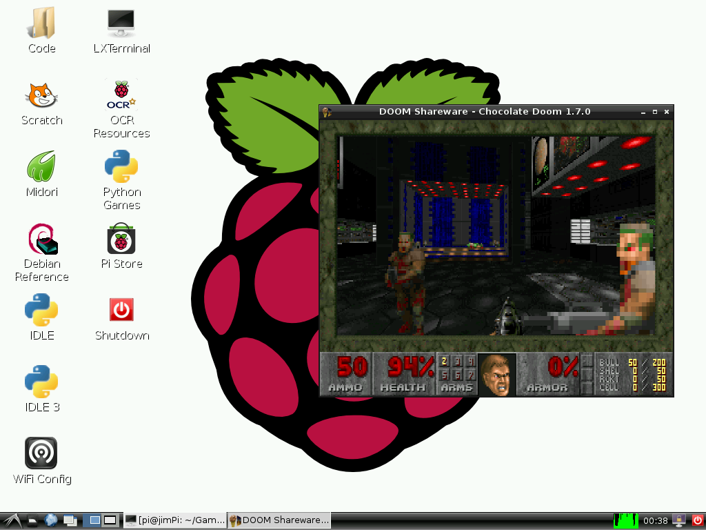 Setting up Raspbian (and DOOM!) - learn sparkfun com