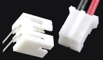 Male and female 2-pin JST connectors