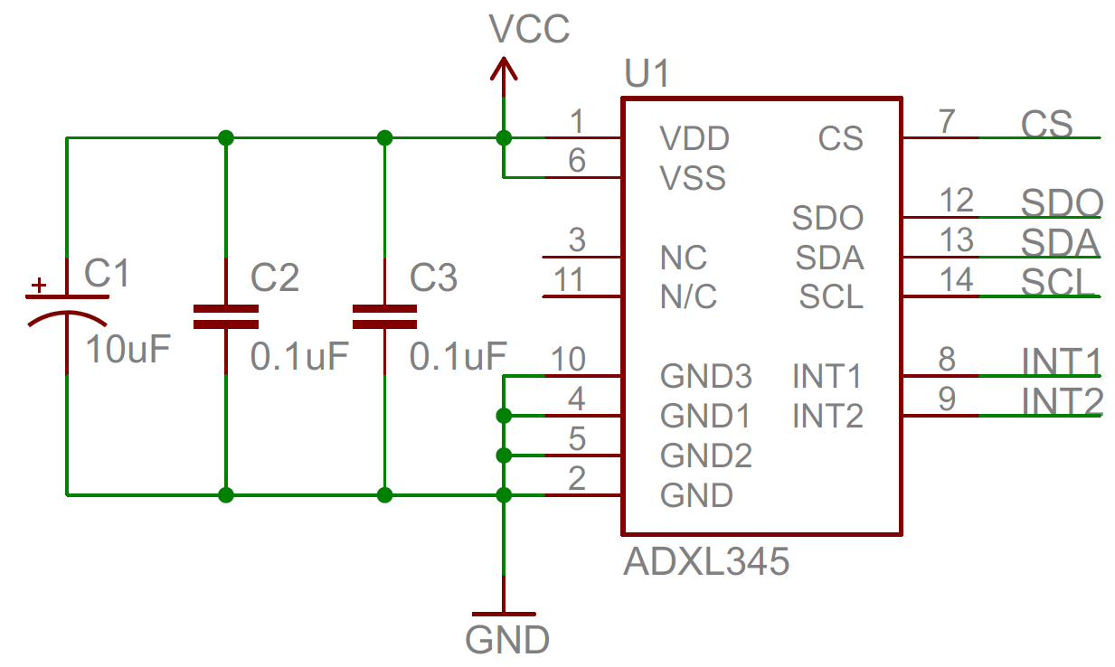 Capacitors Adjustable Symmetric Power Supply Schematic Diagram Decoupling Capacitor
