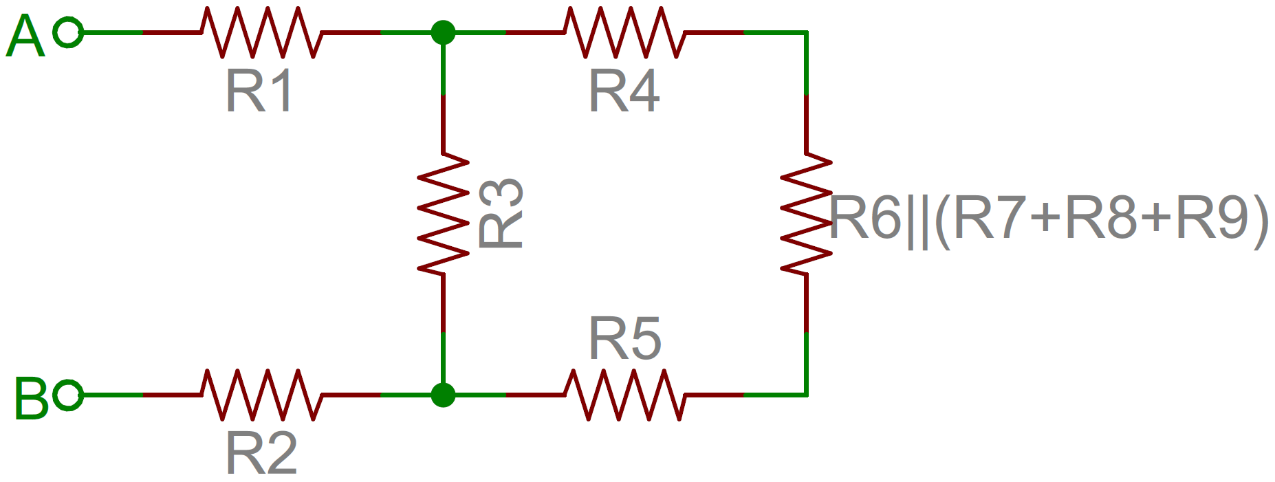 Resistors Image For A Find The Open Circuit Voltage Across Terminals And B Resistor Network Simplified