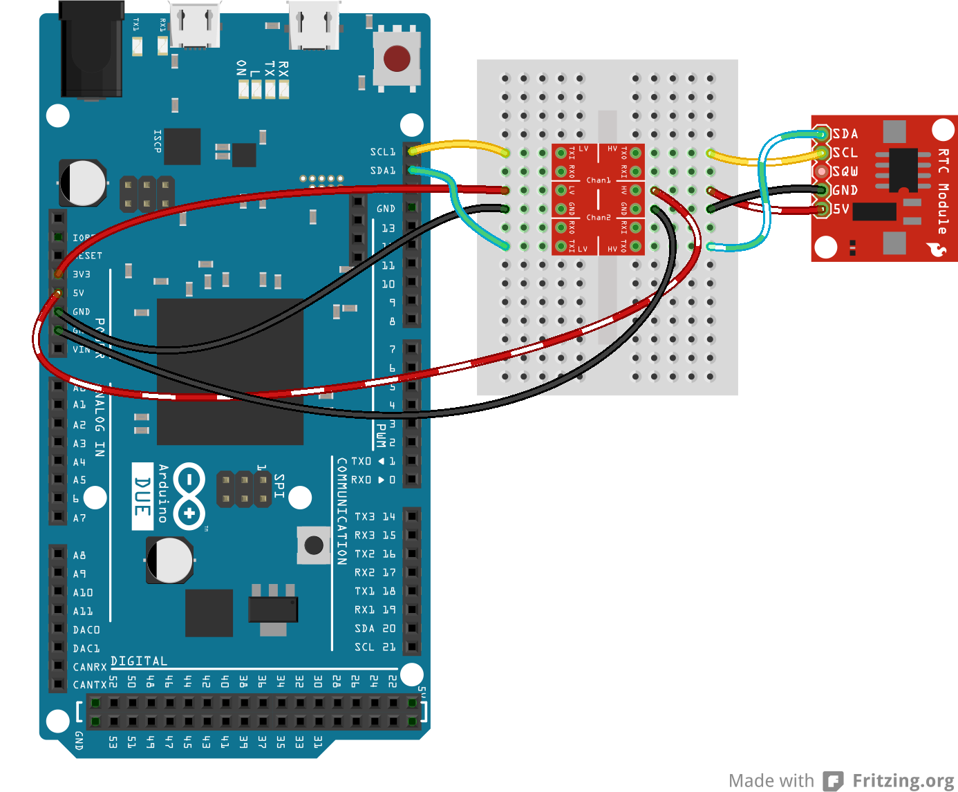 Retired Using The Logic Level Converter Arduino Can Bus Wiring Diagram Also Mini Usb Pinout I2c Hookup Fritzing