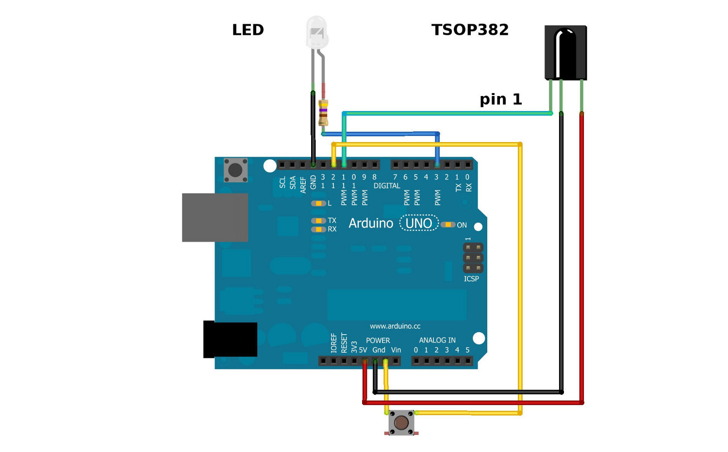 Ir Communication Wiring Diagram Further Motion Sensor Light Additionally Circuit Here Is The Complete Setup For Connecting To An Arduino Hardware