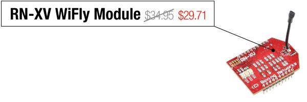 RN-XV WiFly Module - Was $34.95, now $29.71