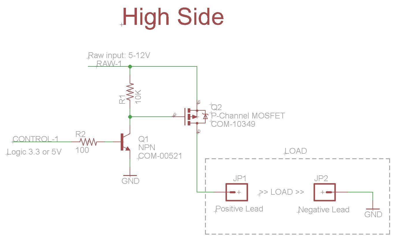 high side power switch circuit enthusiast wiring diagrams u2022 rh rasalibre co