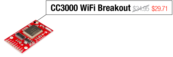 CC3000 WiFi Breakout - Was $34.95, now $29.71