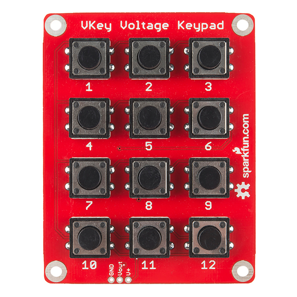 Vkey voltage keypad hookup guide learn sparkfun
