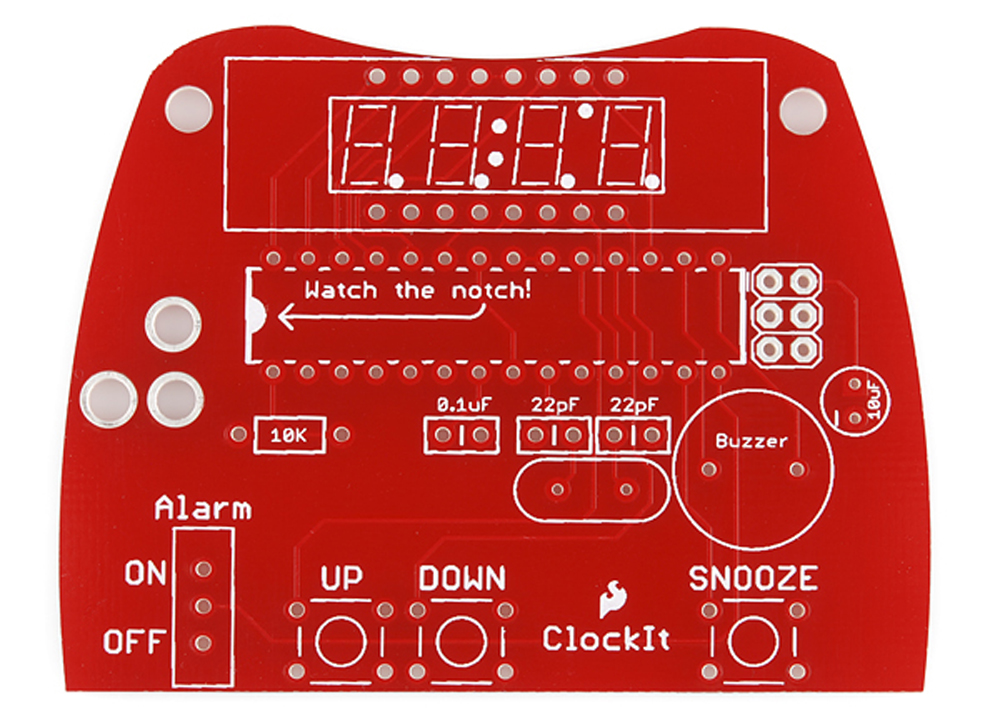 pcb basics learn sparkfun comblank pcb from the clockit kit