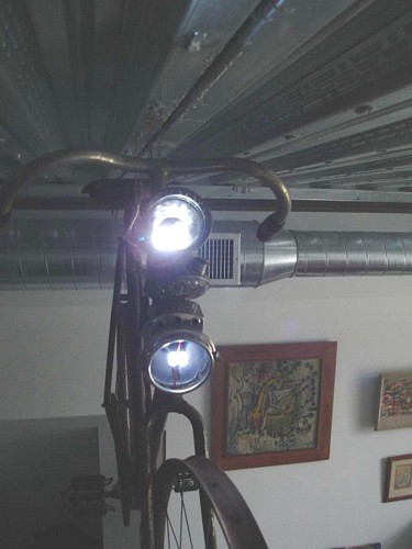 Bike with LED light