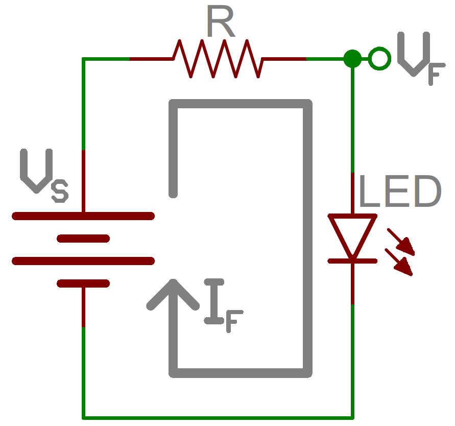 resistors learn sparkfun comcurrent limiting resistor schematic