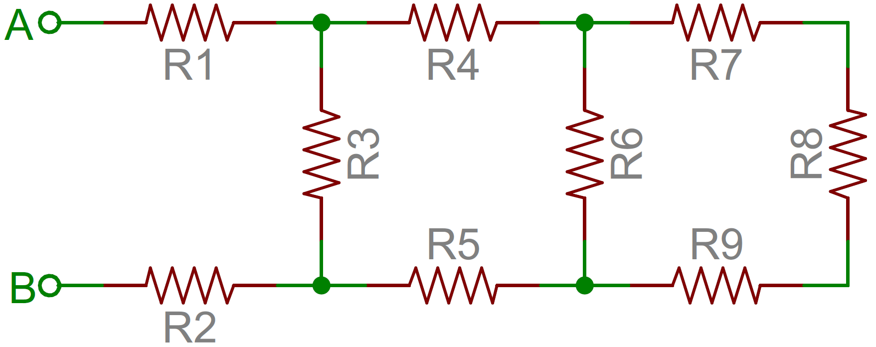 Resistors Electronic Circuit Diagram Symbols The Little An Example Of A Resistor Network
