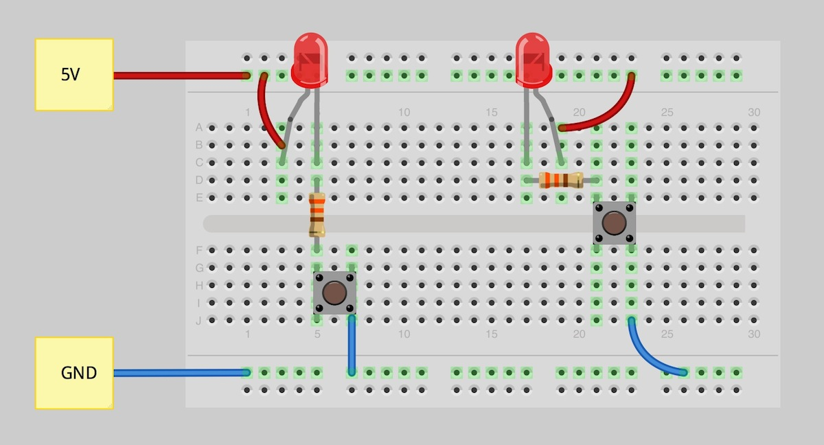 how to use a breadboard learn sparkfun com rh learn sparkfun com half adder circuit diagram breadboard circuit diagram using breadboard